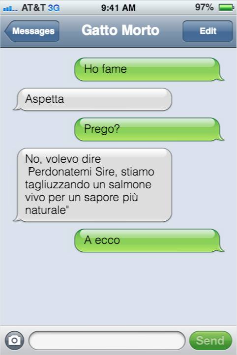 sms di Gatto Morto